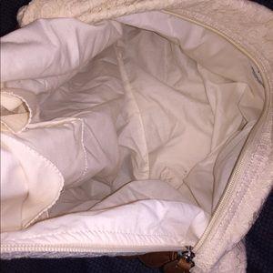 Aeropostale Bags - Aeropostale White Lace Hobo / Brown, Twisted Strap